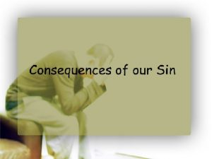 consequences of our sin