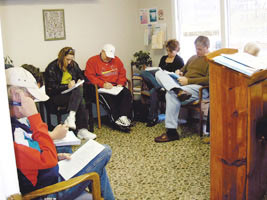 Students receiving counseling training